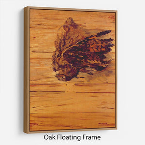 Dead Uhu by Manet Floating Frame Canvas