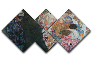 Death and Life by Klimt 2 4 Square Multi Panel Canvas  - Canvas Art Rocks - 1