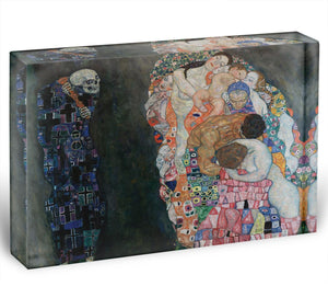 Death and Life by Klimt 2 Acrylic Block - Canvas Art Rocks - 1
