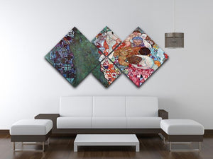 Death and Life by Klimt 4 Square Multi Panel Canvas - Canvas Art Rocks - 3