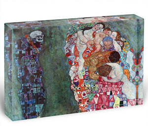 Death and Life by Klimt Acrylic Block - Canvas Art Rocks - 1
