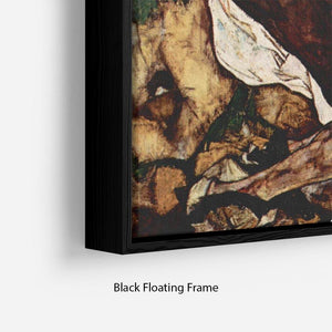 Death and the Woman by Egon Schiele Floating Frame Canvas - Canvas Art Rocks - 2