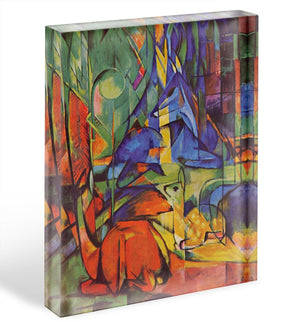 Deer in Forest by Franz Marc Acrylic Block - Canvas Art Rocks - 1