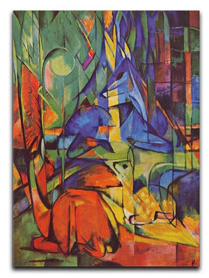 Deer in Forest by Franz Marc Canvas Print or Poster  - Canvas Art Rocks - 1