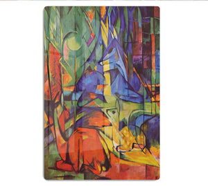 Deer in Forest by Franz Marc HD Metal Print