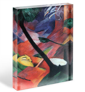 Deer in the forest II by Franz Marc Acrylic Block - Canvas Art Rocks - 1