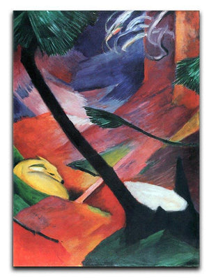 Deer in the forest II by Franz Marc Canvas Print or Poster  - Canvas Art Rocks - 1