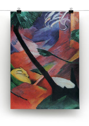 Deer in the forest II by Franz Marc Canvas Print or Poster - Canvas Art Rocks - 2