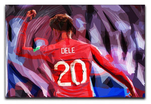 Dele Alli England Celebration Canvas Print or Poster  - Canvas Art Rocks - 1