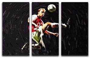 Dennis Bergkamp 3 Split Panel Canvas Print - Canvas Art Rocks - 1