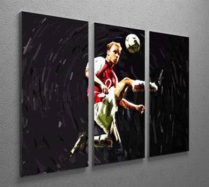 Dennis Bergkamp 3 Split Panel Canvas Print - Canvas Art Rocks - 2