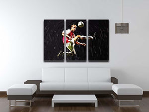 Dennis Bergkamp 3 Split Panel Canvas Print - Canvas Art Rocks - 3