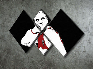 Dennis Bergkamp Close Up 4 Square Multi Panel Canvas - Canvas Art Rocks - 2