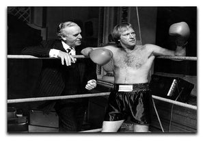 Dennis Waterman and George Cole filming Minder Canvas Print or Poster  - Canvas Art Rocks - 1