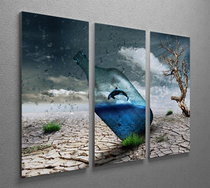Desert In A Bottle 3 Split Panel Canvas Print - Canvas Art Rocks - 2