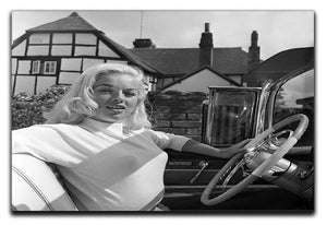 Diana Dors in her car Canvas Print or Poster  - Canvas Art Rocks - 1