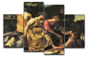 Diana and her nymphs by Vermeer 4 Split Panel Canvas - Canvas Art Rocks - 1