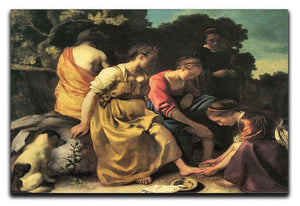 Diana and her nymphs by Vermeer Canvas Print or Poster - Canvas Art Rocks - 1