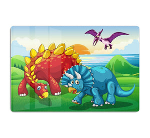 Dinosaurs in the park HD Metal Print