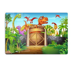 Dinosaurs living in Dino park HD Metal Print
