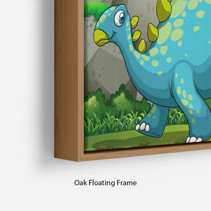 Dinosaurs living in the jungle Floating Frame Canvas
