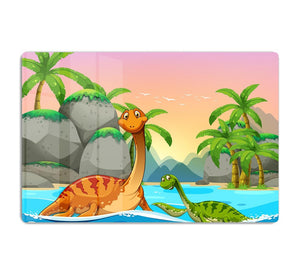 Dinosaurs living in the ocean HD Metal Print