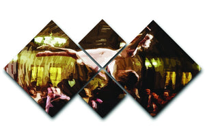 Dirty Dancing 4 Square Multi Panel Canvas  - Canvas Art Rocks - 1