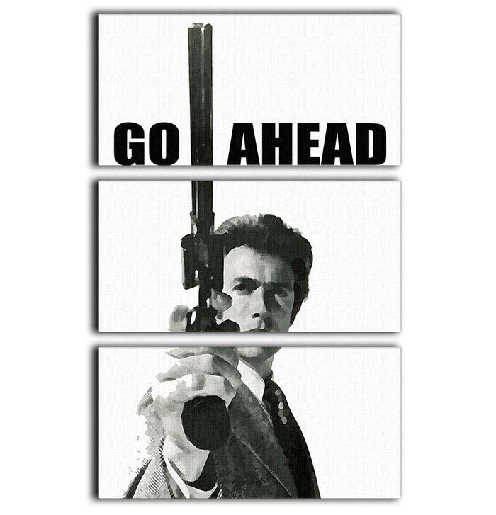 Dirty Harry Go Ahead 3 Split Panel Canvas Print