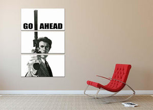Dirty Harry Go Ahead 3 Split Panel Canvas Print - Canvas Art Rocks - 2