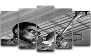 Dizzy Gillespie 5 Split Panel Canvas - Canvas Art Rocks - 1