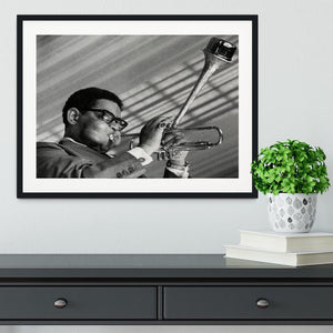 Dizzy Gillespie Framed Print - Canvas Art Rocks - 1