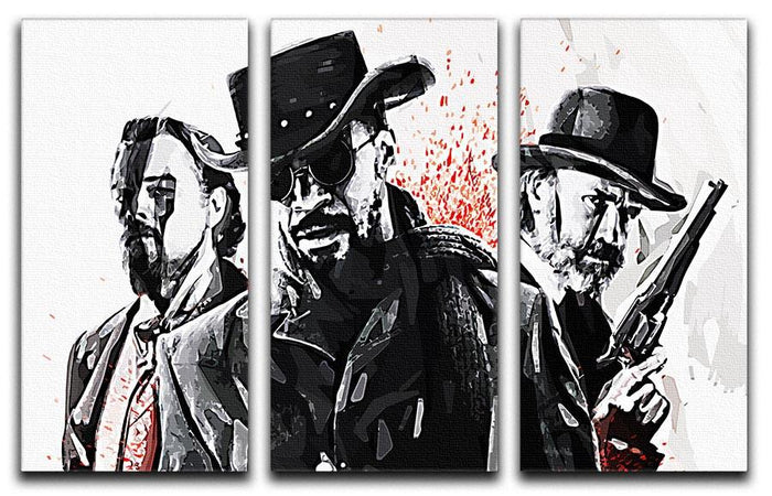 Django Unchained 3 Split Panel Canvas Print