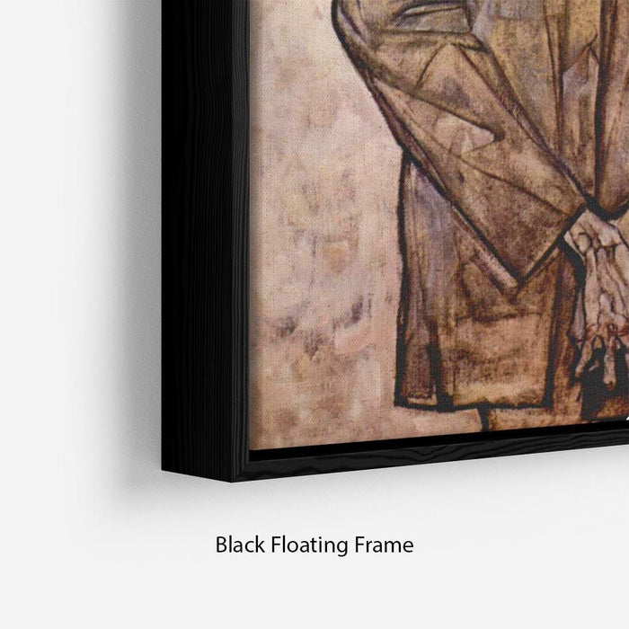 Double Portrait of Heinrich Bensch and his Son Otto by Egon Schiele Floating Frame Canvas