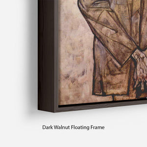 Double Portrait of Heinrich Bensch and his Son Otto by Egon Schiele Floating Frame Canvas - Canvas Art Rocks - 6