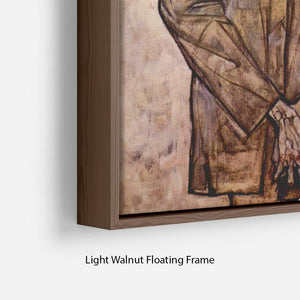 Double Portrait of Heinrich Bensch and his Son Otto by Egon Schiele Floating Frame Canvas - Canvas Art Rocks - 8