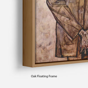 Double Portrait of Heinrich Bensch and his Son Otto by Egon Schiele Floating Frame Canvas - Canvas Art Rocks - 10