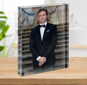 Dougie Poynter Acrylic Block - Canvas Art Rocks - 2
