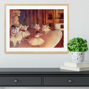 Dress rehearsal of the ballet on the stage by Degas Framed Print - Canvas Art Rocks - 3
