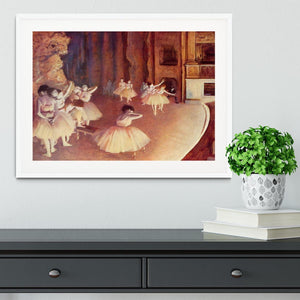 Dress rehearsal of the ballet on the stage by Degas Framed Print - Canvas Art Rocks - 5