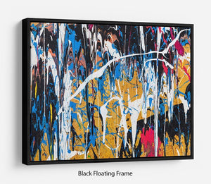Dripping paint graffiti Floating Frame Canvas