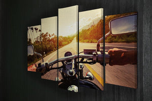 Driver riding motorbike 5 Split Panel Canvas  - Canvas Art Rocks - 2