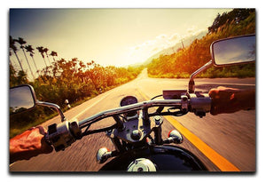 Driver riding motorbike Canvas Print or Poster  - Canvas Art Rocks - 1