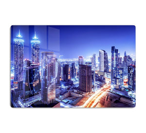 Dubai downtown night scene UAE HD Metal Print