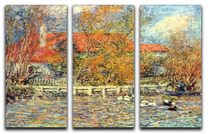 Duck pond by Renoir 3 Split Panel Canvas Print - Canvas Art Rocks - 1