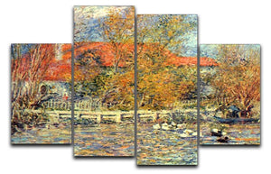 Duck pond by Renoir 4 Split Panel Canvas  - Canvas Art Rocks - 1