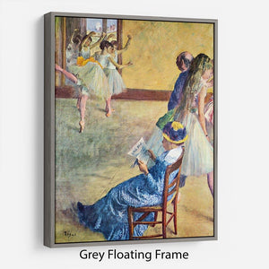 During the dance lessons Madame Cardinal by Degas Floating Frame Canvas - Canvas Art Rocks - 3