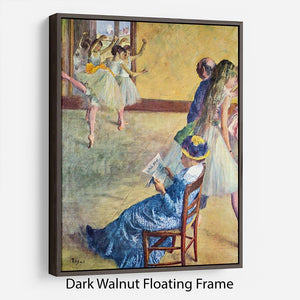 During the dance lessons Madame Cardinal by Degas Floating Frame Canvas - Canvas Art Rocks - 5