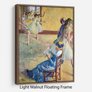 During the dance lessons Madame Cardinal by Degas Floating Frame Canvas - Canvas Art Rocks 7
