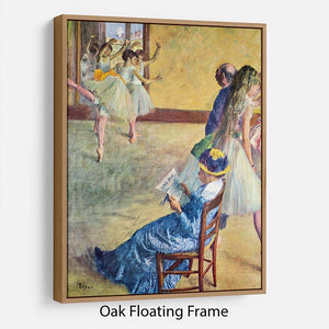 During the dance lessons Madame Cardinal by Degas Floating Frame Canvas - Canvas Art Rocks - 9