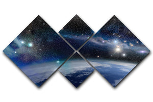 Earth in a Cosmic Cloud 4 Square Multi Panel Canvas  - Canvas Art Rocks - 1